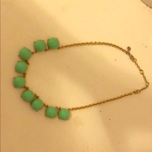 JCrew green bubble statement necklace